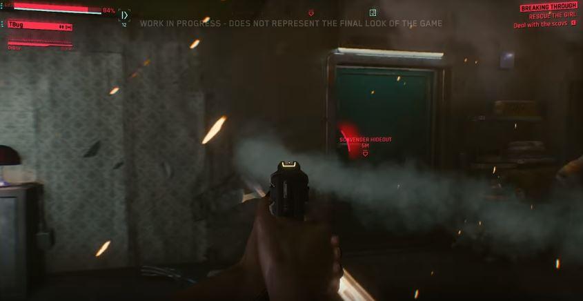 shoot through wall